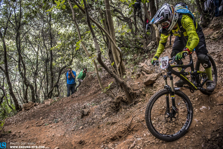 Valentina Macheda with her Ibis HD-R in Finale Ligure (EWS)