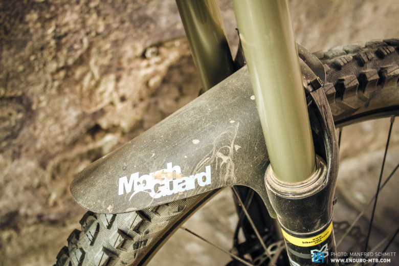 Worth their weight in gold.  These tiny, simple guards keep the mud from your eyes and transform your riding in the mud.