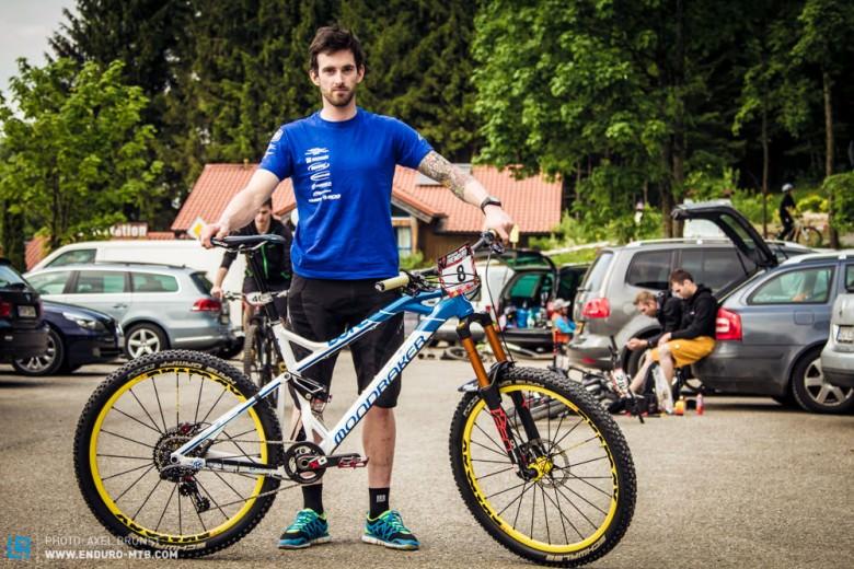 Der Österreicher Matthias Stonig vom MS Mondraker Team hat ordentliches Potential. In Riva fuhr er mit seinem Mondraker Dune mit Forward Geometry direkt aufs Podium.