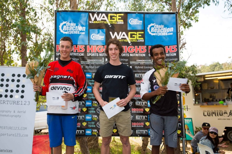 Male U19 Sam Rubery, Jarrod Murphy and Behailu Green