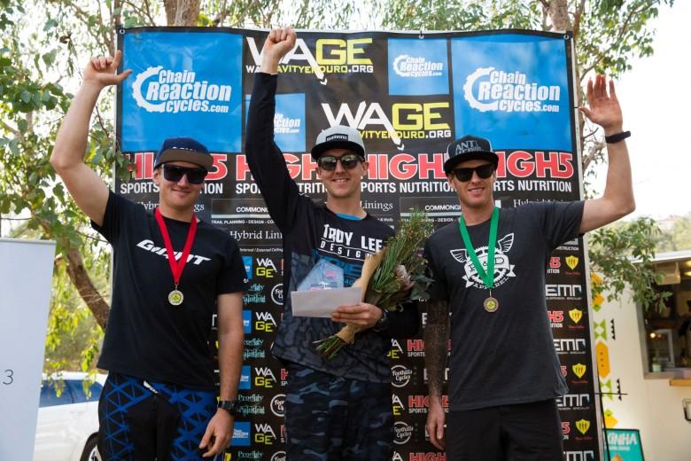 Male Elite Chris Panozzo, Jordan Prochyra and Jimmy Pritchard